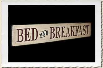 Bed & Breakfast Sign Stencil