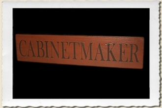 Cabinetmaker Sign Stencil by Primitive Designs Stencil Co.