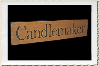 Candlemaker Sign Stencil by Primitive Designs Stencil Co.