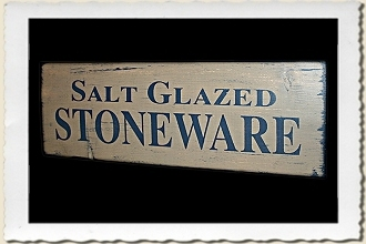Salt Glazed Stoneware Sign Stencil by Primitive Designs Stencil Co.