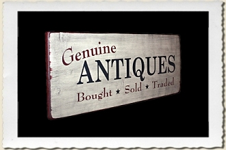 Genuine Antiques Sign Stencil by Primitive Designs Stencil Co.