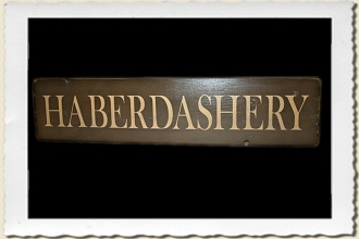 Haberdashery Sign Stencil by Primitive Designs Stencil Co.