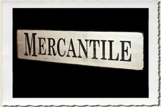 Mercantile Sign Stencil by Primitive Designs Stencil Co.