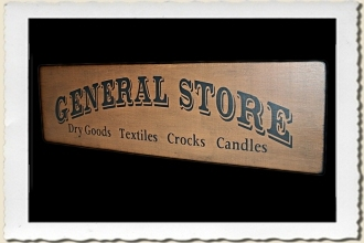 Fancy General Store Sign Stencil by Primitive Designs Stencil Co.