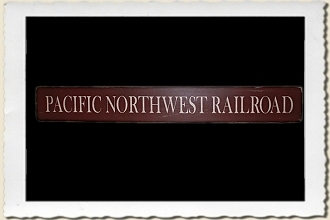 Pacific Northwest RR Sign Stencil by Primitive Designs Stencil Co.