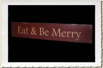 Eat & Be Merry Sign Stencil by Primitive Designs Stencil Co.