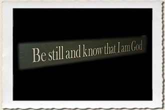 Be Still and Know That I am God Sign Stencil