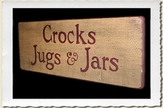 Crocks, Jugs and Jars Sign Stencil