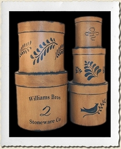 Stoneware Canister Stencil Set