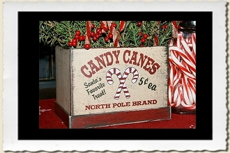 Candy Canes Stencil