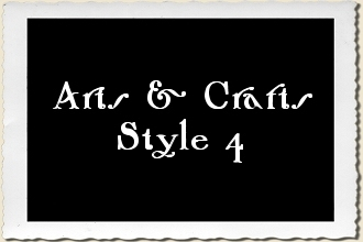 Arts & Crafts Style 4 Alphabet Stencil Set