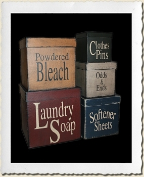 Laundry Canister Stencil Set
