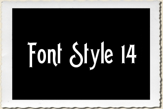 Font Style 14 Alphabet Stencil Set by Primitive Designs Stencil Co.