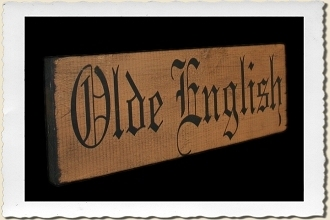 Olde English Alphabet Stencil Set by Primitive Designs Stencil Co.